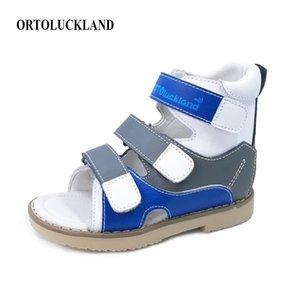 Ortoluckland Baby Boys Sandales orthopédiques Pour Enfants Cuir Original Cuir Chaussures Plat Footwear Pieds Plat Petits Tailles 210312
