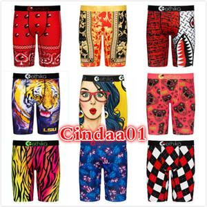 Homens Etika Swimsuit Designer Novo 2021 Padrão Impresso Moda Elegante Single Shorts Calças de Yoga Calças Curtas Underwear Quick Dry Briefs Boxers