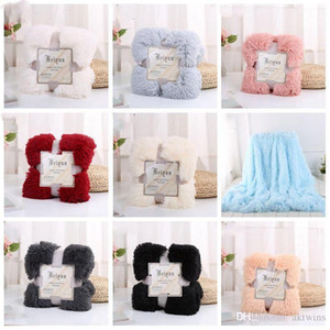 Plush Throw Blanket Super Soft Long Shaggy Blankets Fuzzy PV Fur Faux Fur Warm Elegant Cozy Throw Sofas Bedding 80*120cm LXL1137-