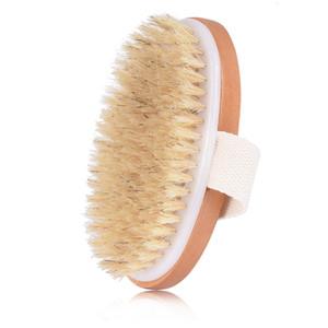 Wood Handmade Bath Brush Dry Skin Body Soft Natural Bristle SPA The Brush Wooden Bath Shower Bristle Brush SPA Body Brushs Without Handle