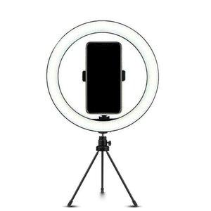 10 Inç LED Halka Işık ile Tripod Standı Kiti Kamera Telefonu Selfie Video Canlı Akış Cep Telefonu Için Light Işık