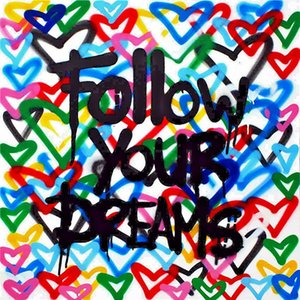 Follow your Dreams Huge Oil Painting On Canvas Home Decor Handcrafts  HD Print Wall Art Pictures Customization is acceptable 21052606