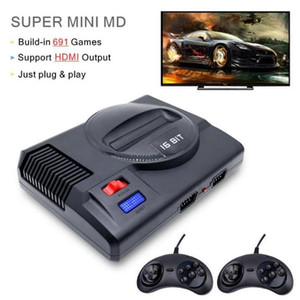 Retro Mini TV Video Game Console For Sega MegaDrive 16 Bit & 8 Bit Games With 691 Different Games Two Gamepads HD Out 00