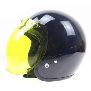 Casco de motocicleta Bubble Shield Visor Abra Face Bubble Helmet Visor Accesorios de motocicleta de alta resistencia para Casco Moto