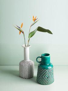 Ceramic Vase Distressed Relief Flower Vase Crack Flower Arrangement Modern Home Decoration Handicraft Furnishings Retro