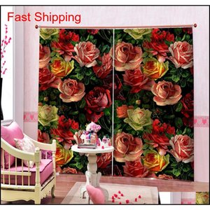 Luxury Blackout 3d Window Curtains For Living Room Bedroom Morden Flower Curtains 3d Stere jllUTk xhlight