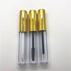 3 조각 / 로트 3.5ml Lipgloss 플라스틱 용기 빈 골드 립글로스 튜브 아이 라이너 속눈썹 컨테이너 미니 립 광택 포장 병