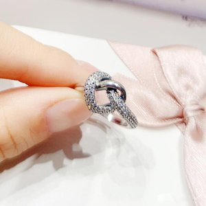 2020 Новое поступление в завязание сердца оригинальная коробка для Pandora 925 стерлингового серебра CZ Diamond женщин свадебный подарок ювелирные кольца