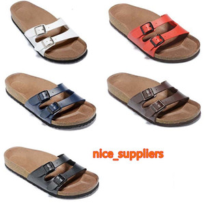 2019 New Style Colorful HOT Brand Arizona Men Flat Heel Sandals Women Fashion Summer Beaches Casual Shoes With Buckle Genuine Leather shoes