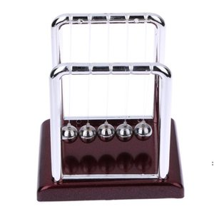 Wholesale- New Design Early Fun Development Educational Desk Toy Gift Newtons Cradle Steel Balance Ball Physics Science Pendulum FWF5051