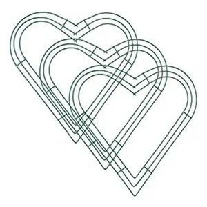 3 Paquete Corazón Corazón Guirnalda de metal 12 pulgadas Marco de guirnalda de alambre en forma de corazón para la boda en casa Día de San Valentín DIY Crafts