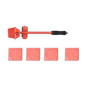 Power Tool Sets 50LB Heavy Duty Furniture Lifter Slides Kit 360° Rotatable (Red) Sliders Handling