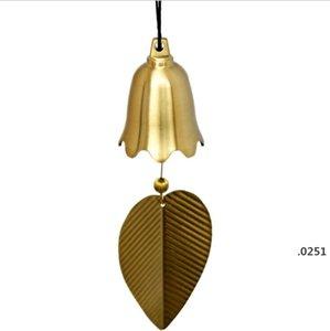 Pure Pure Copper Wind Bell Pendentif Exquis Creative Home Balcon Chambre à coucher Vent Bell Connectèle Voiture Pendentif Anniversaire Fournitures Fête Ferme FWC6050