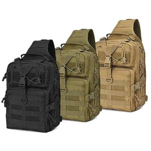 Outdoor-Taschen 20L taktischer Angriffspaket wasserdichte Sling-Rucksack MOLLE-Armee-Tasche für Campingwanderjagden