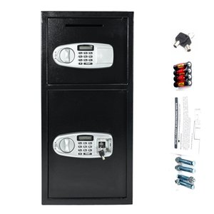 Digital Double Door Safe Depository Drop Box Gun Safes Dependable Performance Jewelry Cash File Storage Cabinet for Home Office