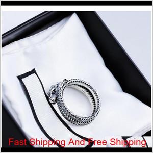 Anillo de dedo de las mujeres de las mujeres con el anillo de la serpiente animal del sello para el partido de regalo High Quali Sqcczt 4PIGW WZFXU