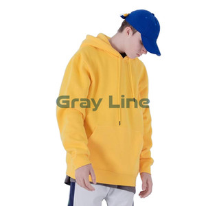 Men&#39S 100% Cotton Fur Wholesale Sweaters High Quality Embroidered Pullover Hoodie men Custom