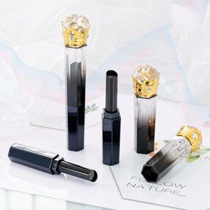 5/10/30 / 50 adet doğrudan sıcak dolum elmas altın taç siyah şeffaf boş ruj tüp dudak konteyner kabuk ambalaj DIY