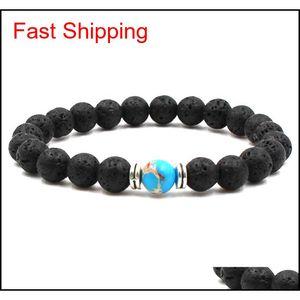 Mens Bracelets Luxury Jewelry Bead Natural Stone Jewelry Cheap Anchor Beaded Buddha Bracelets For Men Women B qylgqL luckyhat