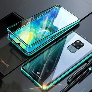 Cassa del telefono di vetro adsorbimento magnetico per Xiomi Redmi Nota 8Pro 9SE MI10 K30 360 Full Cover Metallo Doppia lato in vetro temperato Flip
