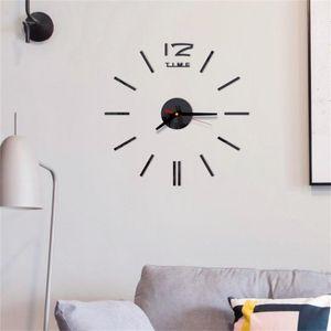 Wall Clocks Antique Mini DIY Mirror Surface Clock Sticker Mute 3D Watch Living Room Home Office Decor Acrylic G516