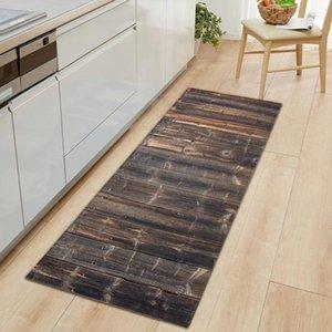 Carpets Geometric Wood Grain Kitchen Mat Living Room Floor Door Mats Entrance Non-Slip Rug For Rooms Carpet