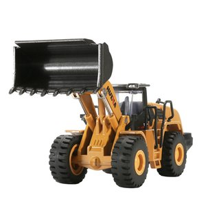 HN Diecast Dump Truck, Wheel Tractor Shovel& Loader Model Cars Toy, 2 In One Suit, 1:50 Scale, Ornament, Xmas Kid Birthday Gift, Collect 02