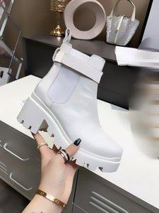 Botas de mujer Ankle Knit Martin Knight Boot Boot Roma Real Cuero MEDAL MEDAL CUARSO A LOS ZAPATOS DE INVIERNO ACUERTOS DESLIZADORES Vestido Tamaño de la fiesta de la fiesta de boda 35-40