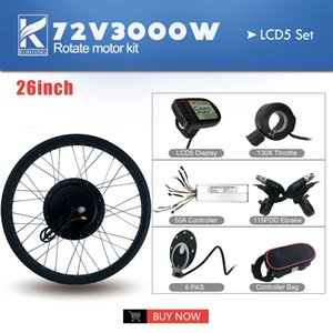 Electric Bicycle Kit Motor Rear drive conversion 26 inch 3000W 72V mountain cross country beach snow vehicle Wheel Tires 1.95 motorcycle display TFT LCD