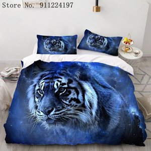 Bedding Sets 3d Lion And Tiger Printing Set Home Textiles Animals Duvet Cover Microfiber Bedclothes Living Room Decor Bedspread