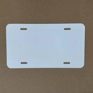 Sublimación de aluminio de aluminio placas de licencia en relieve sublimación en blanco Coche decorativo de la placa de la placa en blanco de la transferencia de calor de DIY