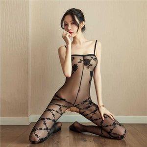 Heiße erotische Seitenkörper schockierende Bodysuits Sex-Kostüme für Frauen offene Unterwäsche-Socken sehen Sie mehr