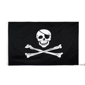 Creepy Ragged older jolly roger Skull Cross bones Pirate Flag Hotsale Freeshipping Direct Factory 100% Polyester 90*150cm 3x5fts FWD10424