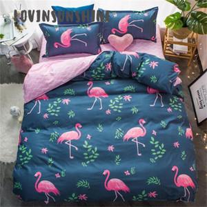 LOVINSUNSHINE Queen Comforter Sets King Size Bedding Set Bed Sheet With Flamingo AB#26 C0223