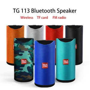 TG113 سماعات بلوتوث اللاسلكية الرياضة المحمولة المتكلمين دعم TF بطاقة راديو FM راديو الهاتف الخليوي 1200mAh