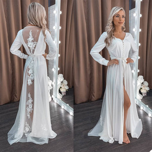 White 2021 Bathrobes for Pregant Women Photoshot Gowns Pajamas Party Nightgowns Wedding Bride Bridesmaid Dress Sleepwear Pyjamas Jackets