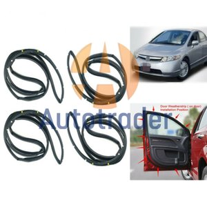 72310-SNA-A01 72850-SNA-A01 Door Weatherstrip 4P Sllence Opening Gasket On Door For Civic 2006-2011 72350-SNA-A01 72810-SNA-A01