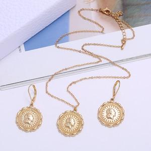 Conjunto de joyas de la moneda etíope Collar Colgante Pendientes Joyería HABESHA BODA ERITREA África Regalo 144 U2