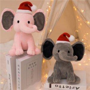 2 Colors Christmas Kids Elephant Soft Pillow Stuffed Cartoon Animals Dolls Toys Kids Sleeping Back Cushion Children Birthday Gift Wholesale c299