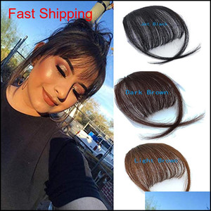 100% Real Human Hair Hair Clip in Bangs Clip On Bangs Extension Hand Tried Hair Capelli Qylxne TopScisrs