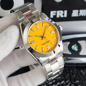 El reloj mecánico de los hombres de estilo de ostras más clásico, acero inoxidable de plata con una variedad de colores, 2813 movimiento de lujo deportes automáticos impermeable zafiro