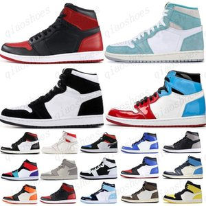 HOT 2021 NEW basketball shoes 1s top Obsidian UNC Fearless PHANTOM TURBO GREEN 1 Backboard PHANTOM GYM RED sport sneaker trainer size 36-46