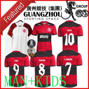2021 2022 Flamengo прочь футболки для футболки Версия игрока CamiSetas de fútbol Gabriel B. diego 21 22 22 Pedro Gerson Men Детские женские футболки