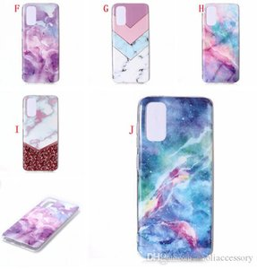 Marble Soft TPU IMD Case For Samsung A02S M51 M21 A12 A32 A42 5G A52 A72 M31 S21 PLUS 5G Ultra Slim Shockproof Flower Flexible Phone Cover