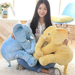Christmas gift hot sale 40cm60cm height large plush elephant doll toy child sleeping cushion cute plush elephant baby to accompany the doll