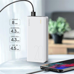 Romoss Sense6S 전원 은행 20000mAh USB 유형 휴대용 충전기 20000mAh PowerBank IP Xiaomi Huawei에 대한 외부 배터리 충전