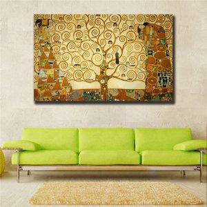 Canvas Wall Art Tree of Life Gustav Klimt Картина маслом на холсте Классические абстрактные огромные стены Фотографии для гостиной без оформления # 127