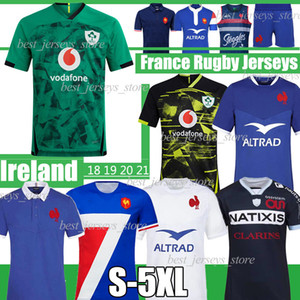 2021 Copa del Mundo Irlanda Rugby Jerseys 2020 2021 Francia Super Rugby Jerseys Maillot De Foot Boln Francés Rugby Camisetas Chaleco