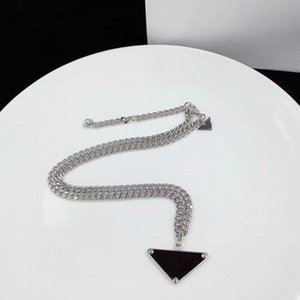 2021 Luxury designer Necklace chain for women men jewelry charm fashion titanium steel black white pendant Italy high quality mens necklaces designs