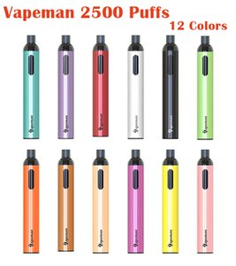 Original Vapeman Vision Disposable Device Kit 2500 Puffs 700mAh Rechargeable Battery Prefilled 5ml Pod Vape Pen Genuine VS Bar Plus